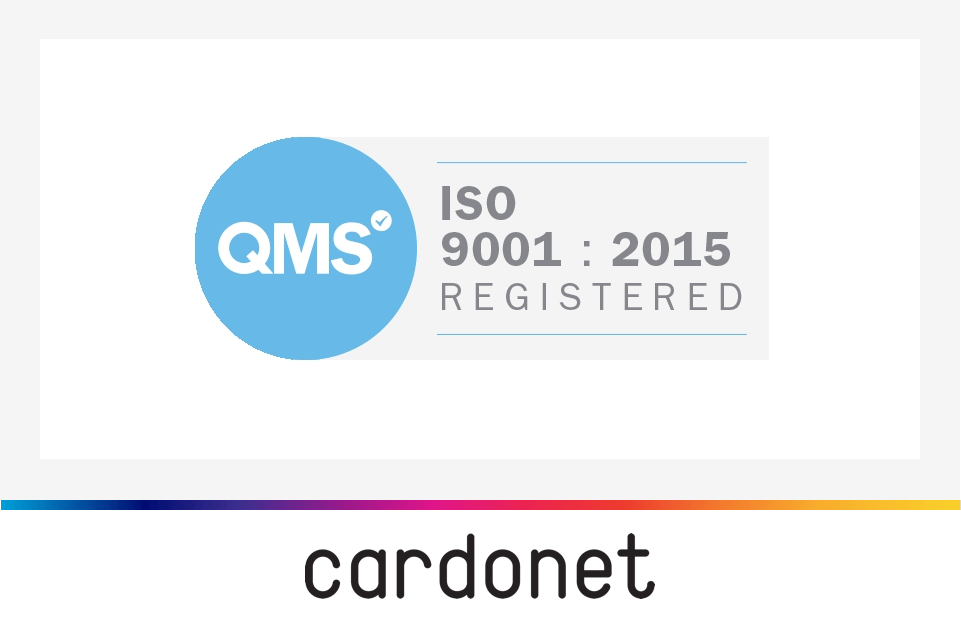 Cardonet IT Services ISO 9001 Certification Awarded