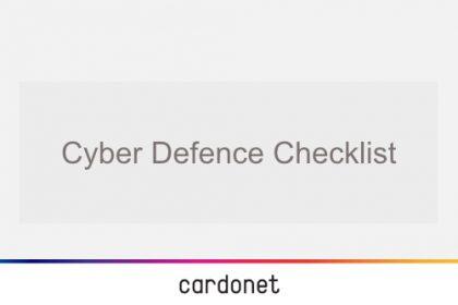 cyber defence checklist