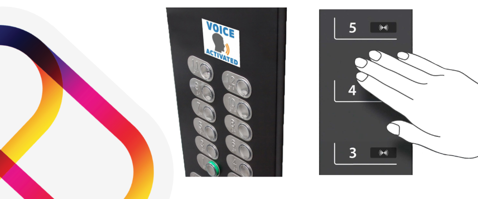 Contactless and Voice Activated Hotel Lifts which replace traditional button lifts