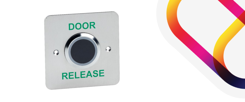 Contactless exit button which replace Press to Exit buttons for hotels