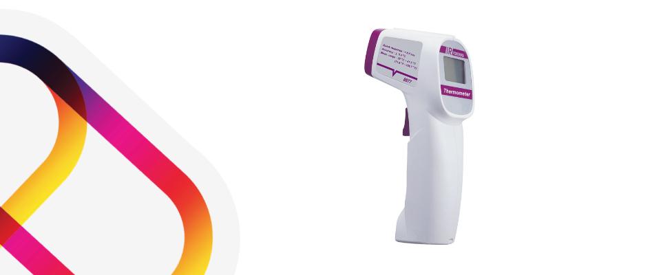 Forehead thermometer for hotel coronavirus reopening.